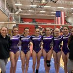 Girls Varsity Gymnastics finishes 3rd place at Wadsworth against McKinley, Perry & Wadsworth