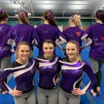 Girls Varsity Gymnastics Sticks It above Sandy Valley at Home Meet