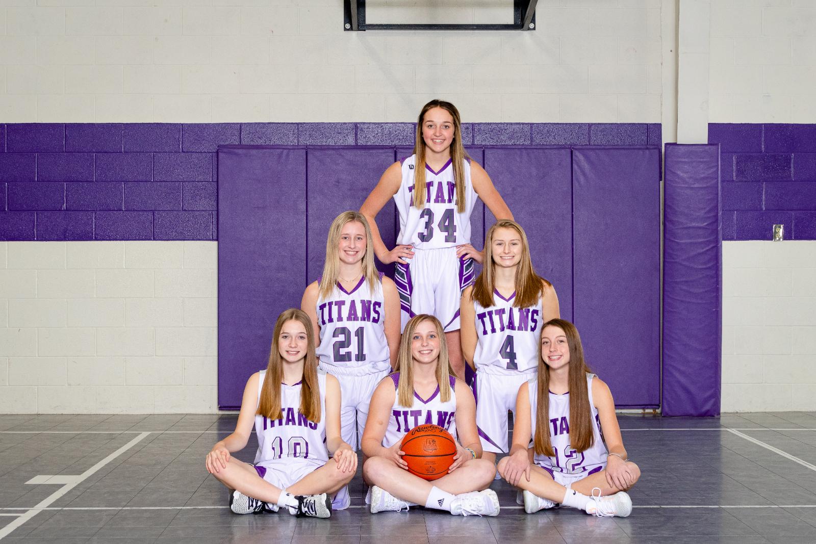 Girls JV Basketball Team 2020-2021