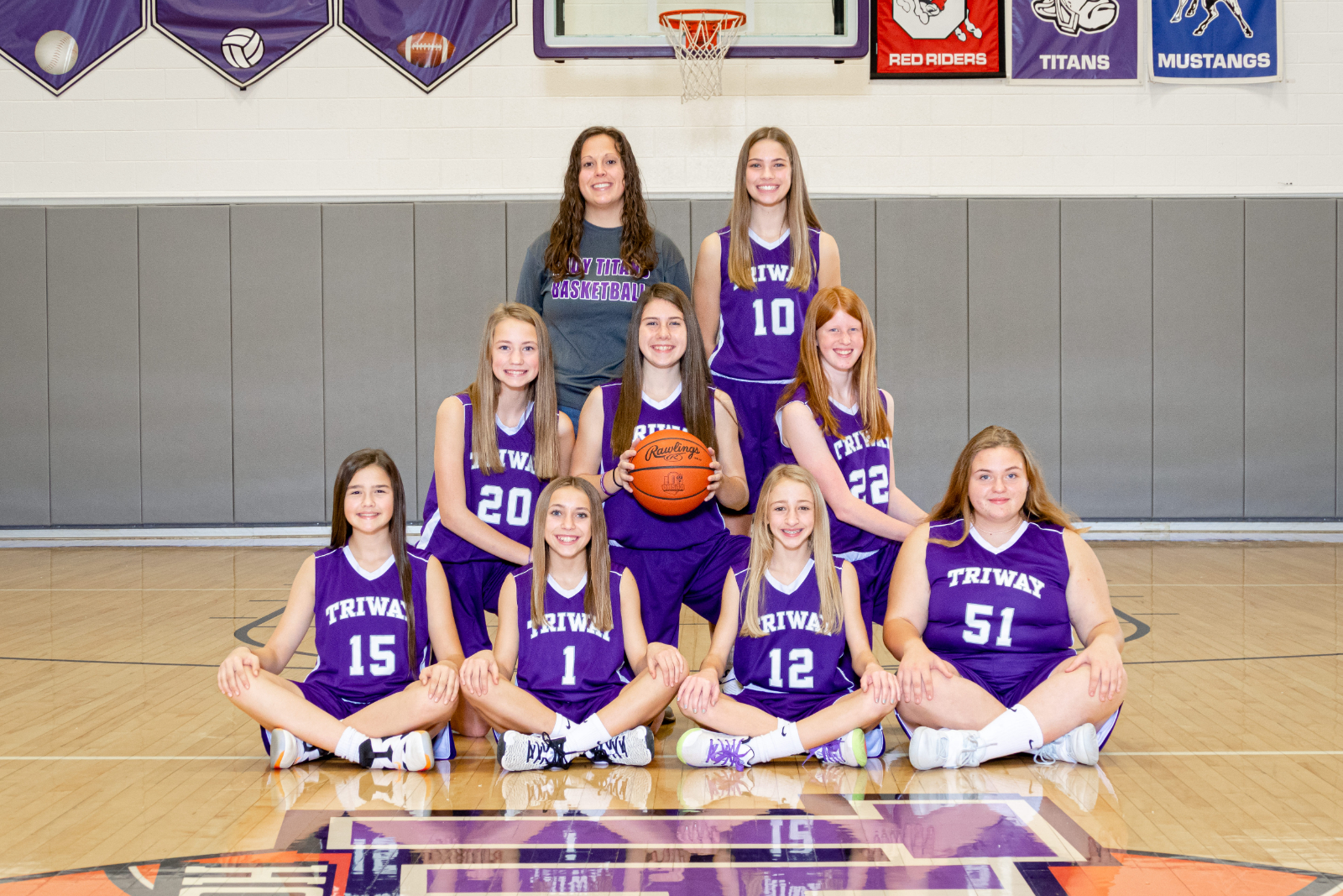 7th Grade Girls Basketball Team 2020-2021