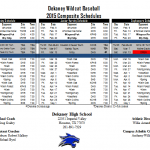 DEKANEY BASEBALL SCHEDULES 2015