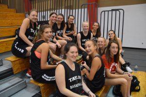 Taylor HS Girls Varsity Basketball vs Carroll at Clinton Prairie Shoot-Out 6/8/18
