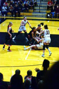 Taylor HS Girls Varsity Bball vs Clinton Prairie (Lost 38-42) 1-4-20