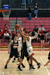 Taylor HS Boys Varsity Basketball vs Peru 2-22-20 (Lost 55-62)