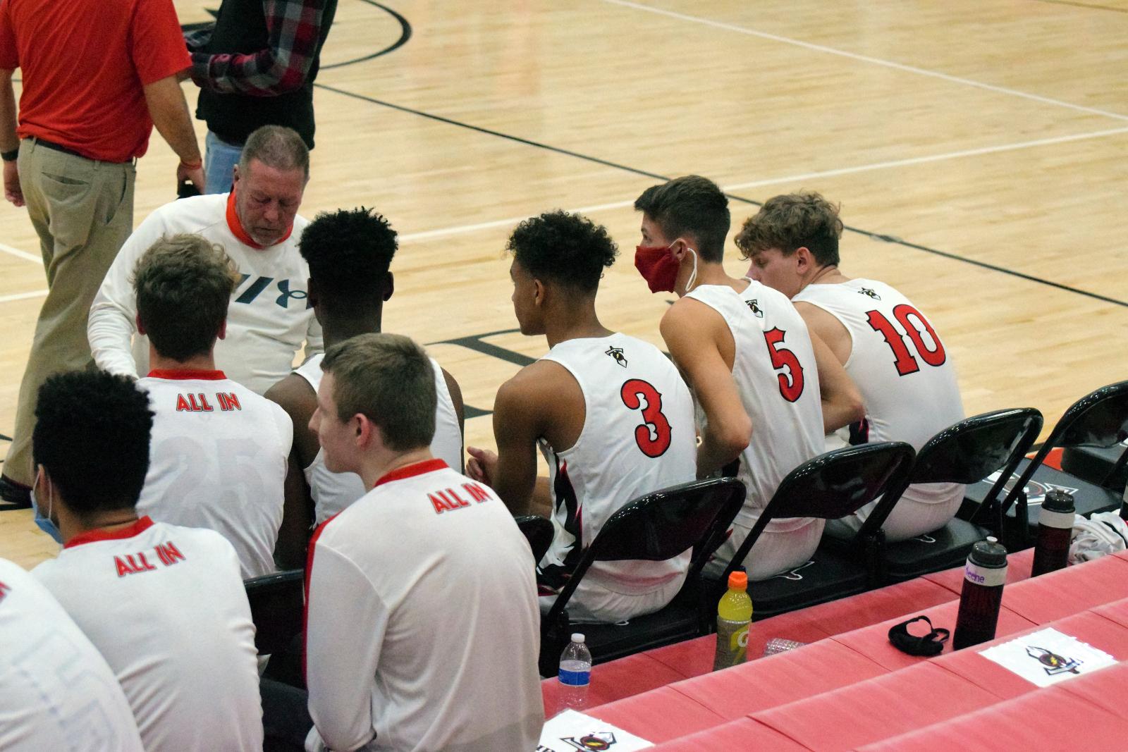 Taylor HS Boys Varsity Basketball vs Lewis Cass SENIOR NIGHT 12-11-20 (Lost 37-52)