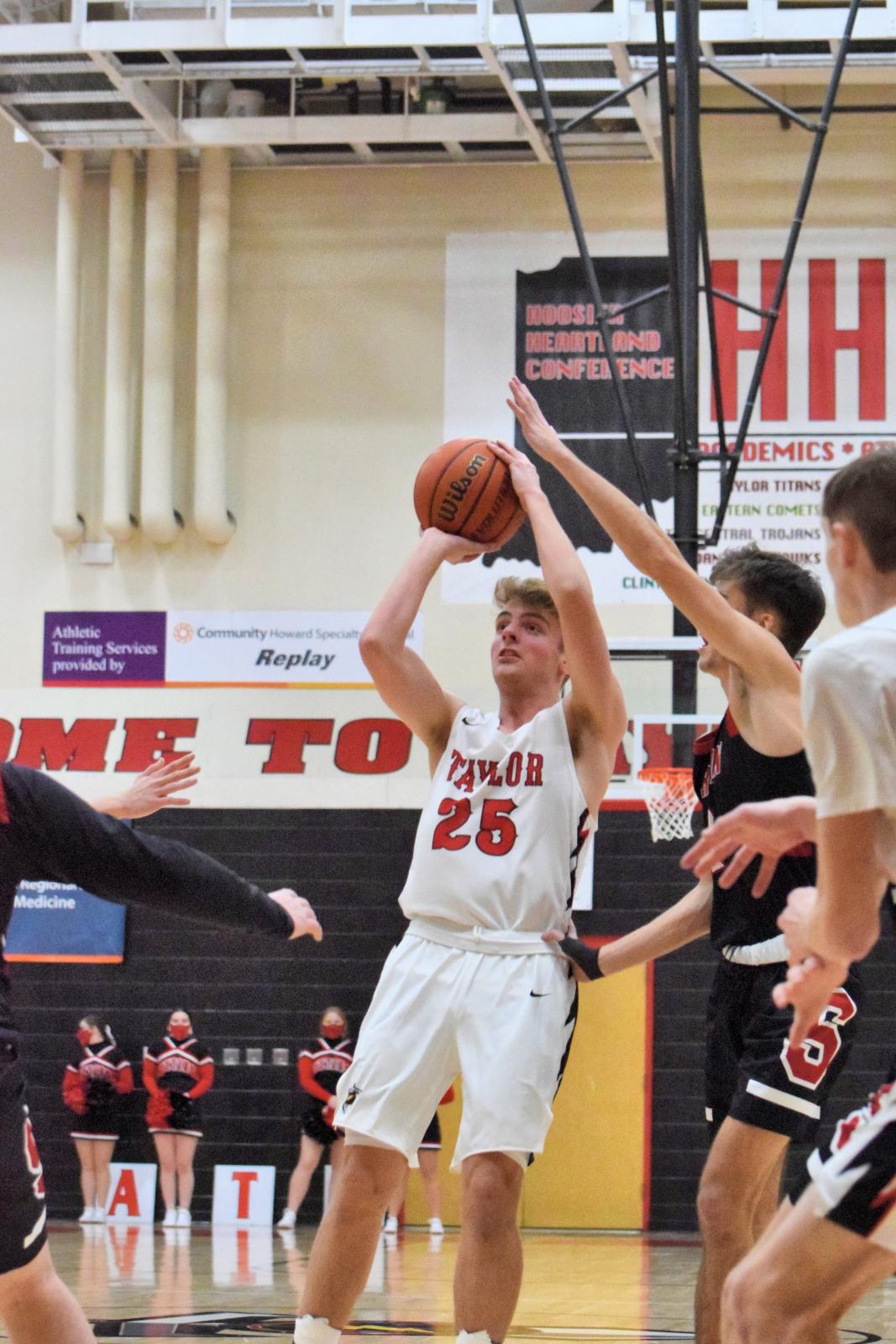 Taylor HS Boys Varsity Basketball vs Sheridan 1-29-21 (W 61-55)