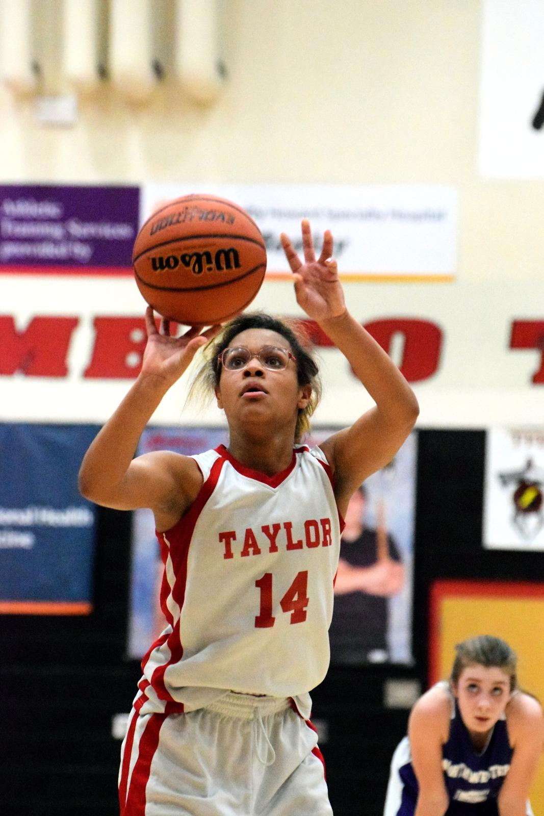 Taylor MS Girls 8th Grade Basketball vs NW 3-8-21 (Lost 30-47)
