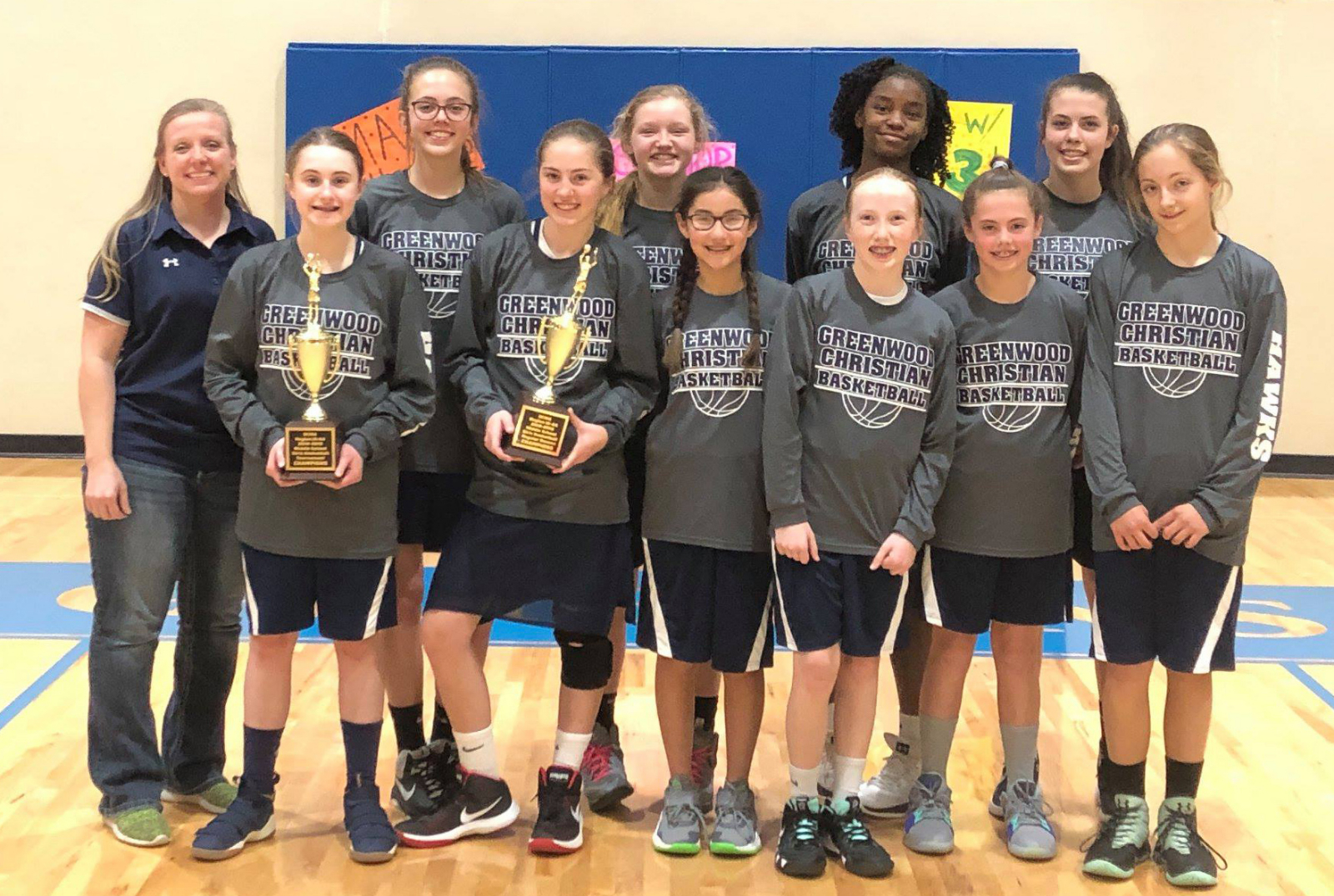 MS Girls Basketball Tournament Champions