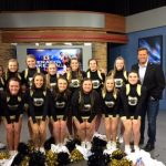 Cheerleaders visit WTHR for Operation Basketball