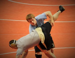 Corbin Maddox competes at State