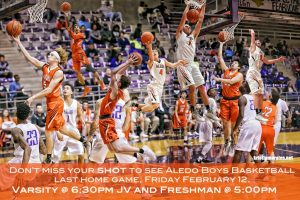 Boys Basketball Last Home Game 2.12.16