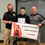 Bonfini pins his way to career win #100