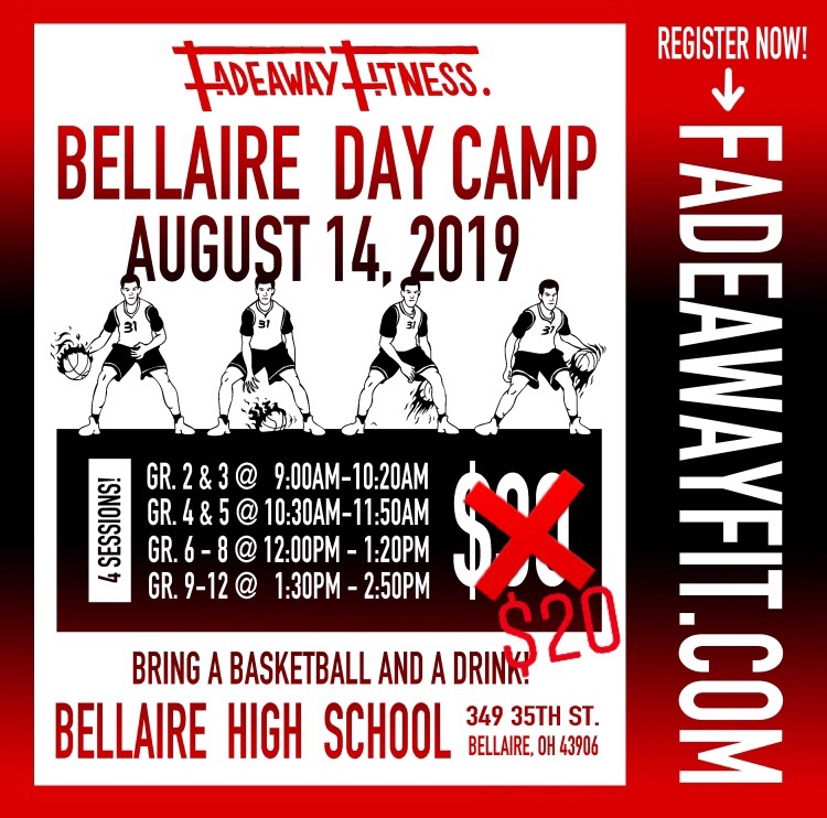 Reminder: Fadeaway Fitness Basketball Day Camp is set for Wednesday at the high school