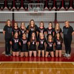 7th-grade volleyball team loses in three hard-fought sets to Harding Middle School