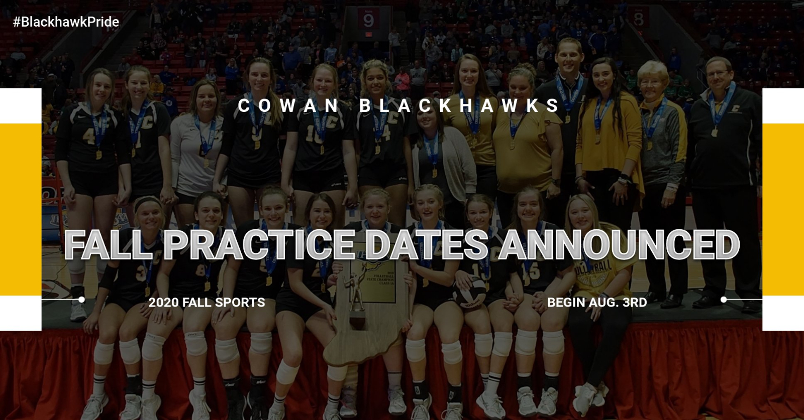 2020 Fall Practice Dates & Times Announced