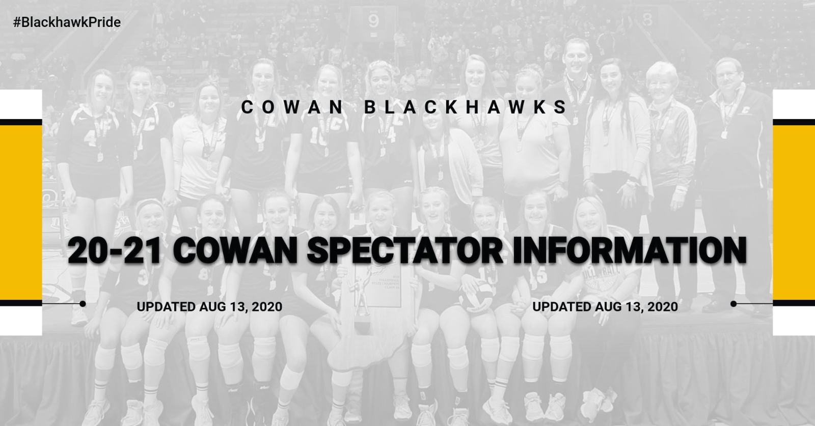 20-21 Cowan Athletic Indoor/Outdoor Spectator Information