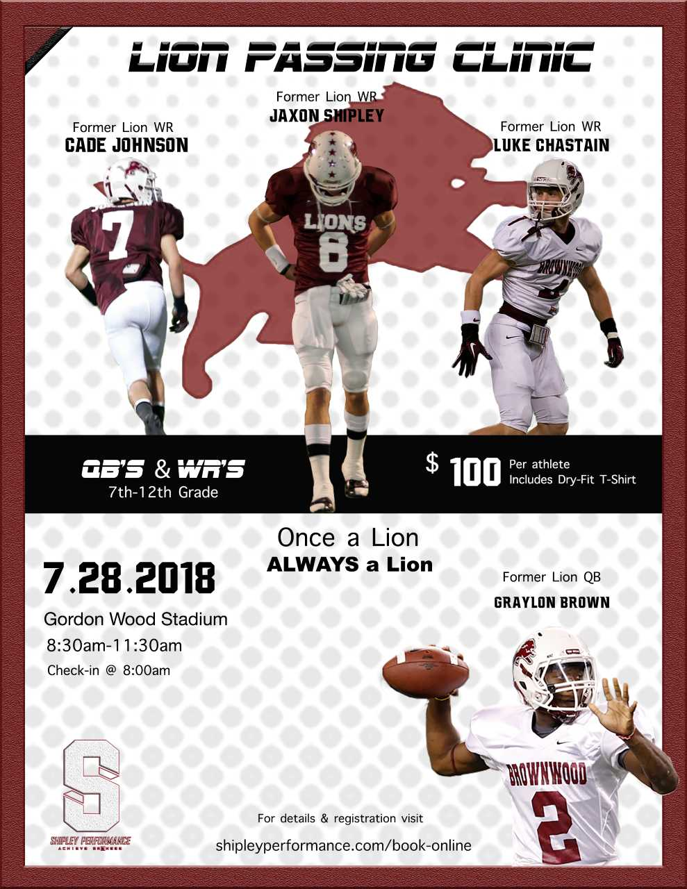 Shipley Performance Camp to be in Brownwood July 28