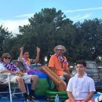 MHS Homecoming Parade Golf Team