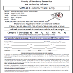 Softball Team to Host Summer Camp