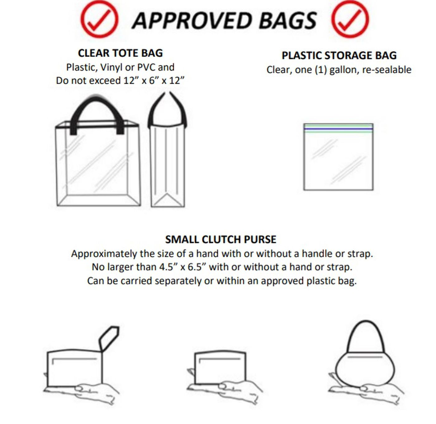 Clear bag policy in effect for Mid-Carolina vs. Chapin
