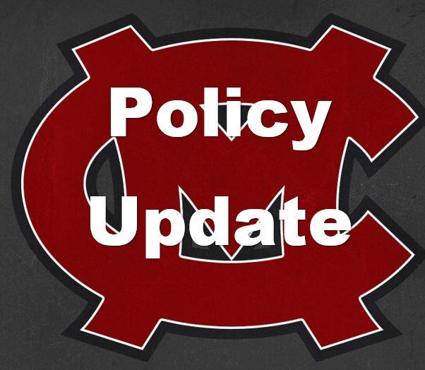 Mid-Carolina Athletics Policy Update