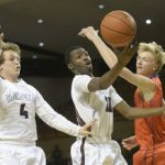 Midland Lee High School Boys Varsity Basketball falls to San Angelo Central High School 48-54