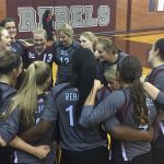 Midland Lee High School Girls Varsity Volleyball beat MHS 3-2