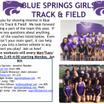 GIRLS TRACK/FIELD RELEASES 2018 SCHEDULE