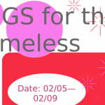 NHS CLOTHING DRIVE – HUGS FOR THE HOMELESS (2/5 – 2/9)