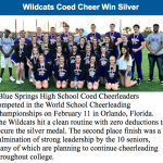 CO-ED CHEER RECOGNIZED IN BSSD NEWSLETTER