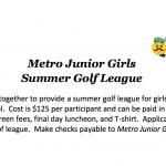2018 METRO JUNIOR GIRLS SUMMER LEAGUE INFORMATION