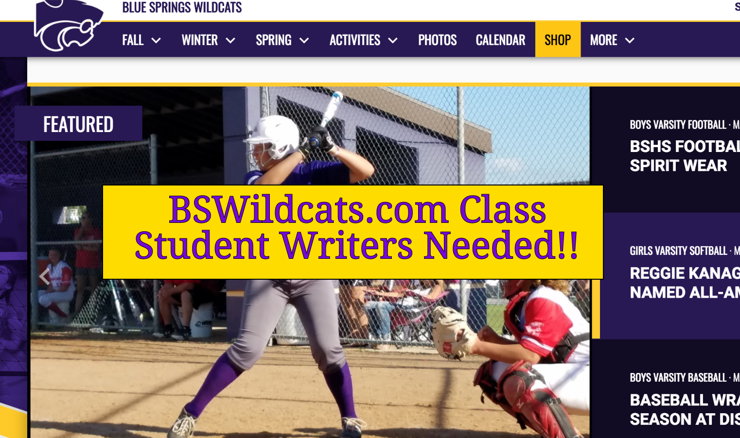 BSWILDCATS.COM CLASS LOOKING FOR STUDENTS FOR 2018-19