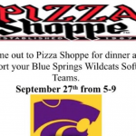 SOFTBALL PIZZA SHOPPE FUNDRAISER TONIGHT (THURSDAY, 9/27)