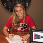 CAITLYN SPORING SIGNS WITH SOUTHERN ILLINOIS EDWARDSVILLE