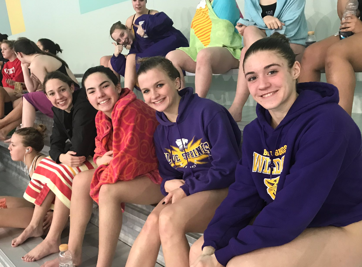 GIRLS SWIM/DIVE REMAINS UNDEFEATED AFTER VICTORY OVER STALEY