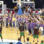 CONCERT CHOIR PERFORMS NATIONAL ANTHEM AT GLOBETROTTERS GAME (VIDEO)