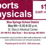 BSSD SPORTS PHYSICALS: MAY 9TH AND JULY 10TH