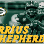 DARRIUS SHEPHERD SIGNED BY THE GREEN BAY PACKERS