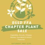 FFA FLOWER SALE – TOMORROW (SATURDAY, MAY 11TH) 8AM-2PM