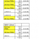 5/21 AND 5/22 CLASS SCHEDULE