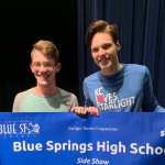 "SAM AUBUCHON WINS 2ND CONSECUTIVE BLUE STAR FOR ""OUTSTANDING ACTOR IN A LEAD ROLE"""