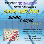SWIM/DIVE FUNDRAISER – BINGO @ SINCLAIR'S (SATURDAY 10/19 @ 8PM)