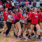 """VOLLEYBALL TAKES DOWN SOUTH IN ANNUAL """"DIG FOR THE CURE"""""""