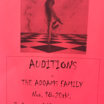 ADDAM'S FAMILY AUDITIONS: NOVEMBER 18TH – 20TH