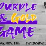 BOYS AND GIRLS BASKETBALL PURPLE/GOLD GAME: TOMORROW (TUES, NOVEMBER 19TH)