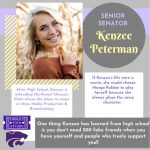 SENATE SENIOR SPOTLIGHT: KENZEE PETERMAN