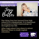 SENATE SENIOR SPOTLIGHT: JOSY BUTLER