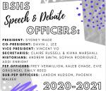 2020-2021 SPEECH AND DEBATE OFFICERS