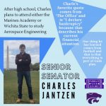 SENATE SENIOR SPOTLIGHT: CHARLES JANTZEN