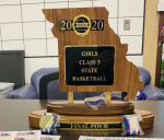 GIRLS BASKETBALL RECEIVES STATE FINAL 4 TROPHY
